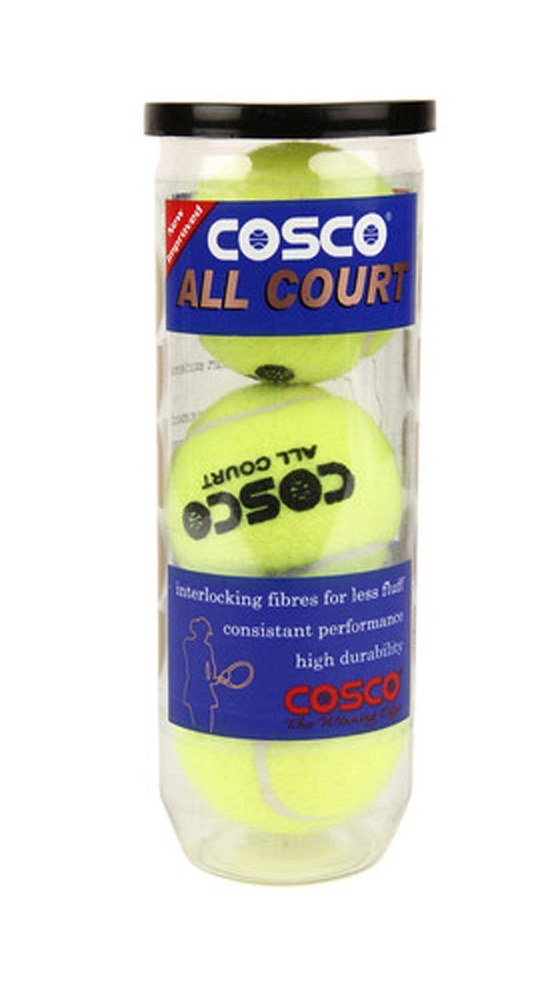Cosco All Court Tennis Ball (Per can of 3 Balls)