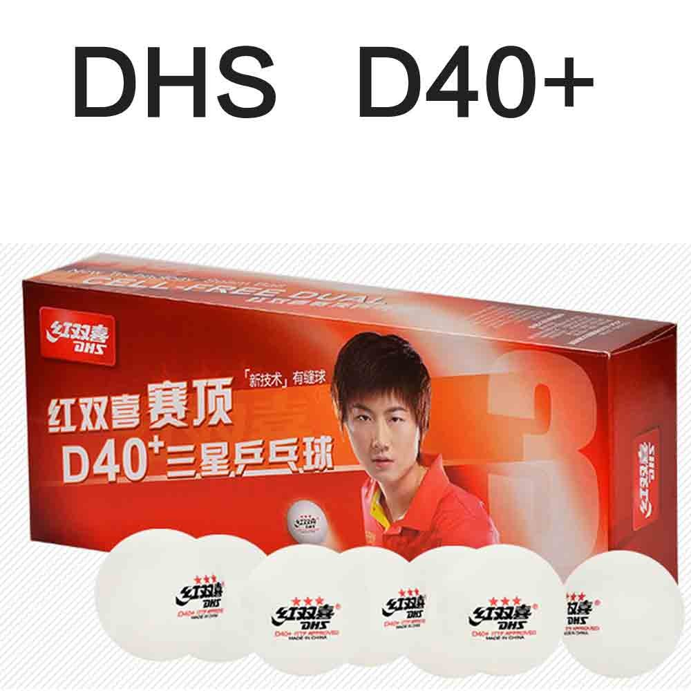 DHS Cellfree Dual 40+ 3 Star Table Tennis Balls
