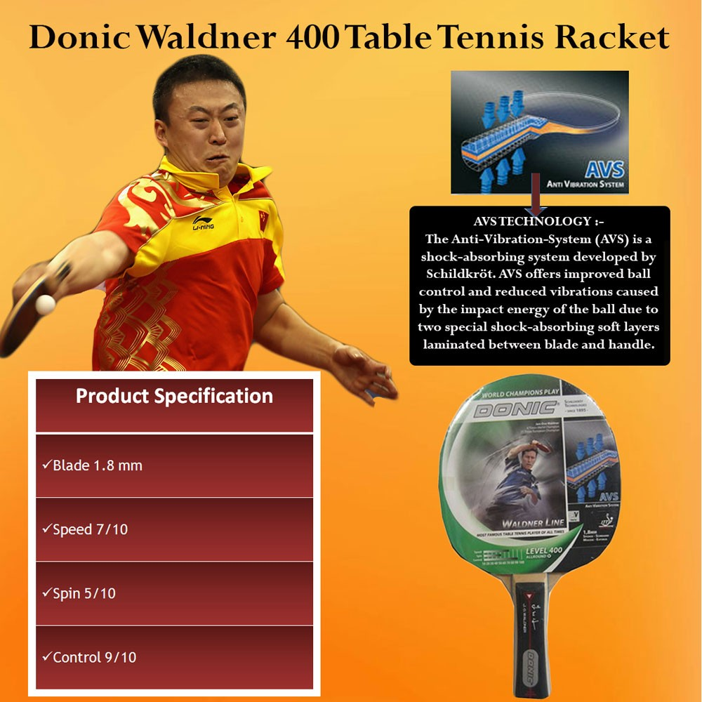Donic Waldner 400 Table Tennis Bat