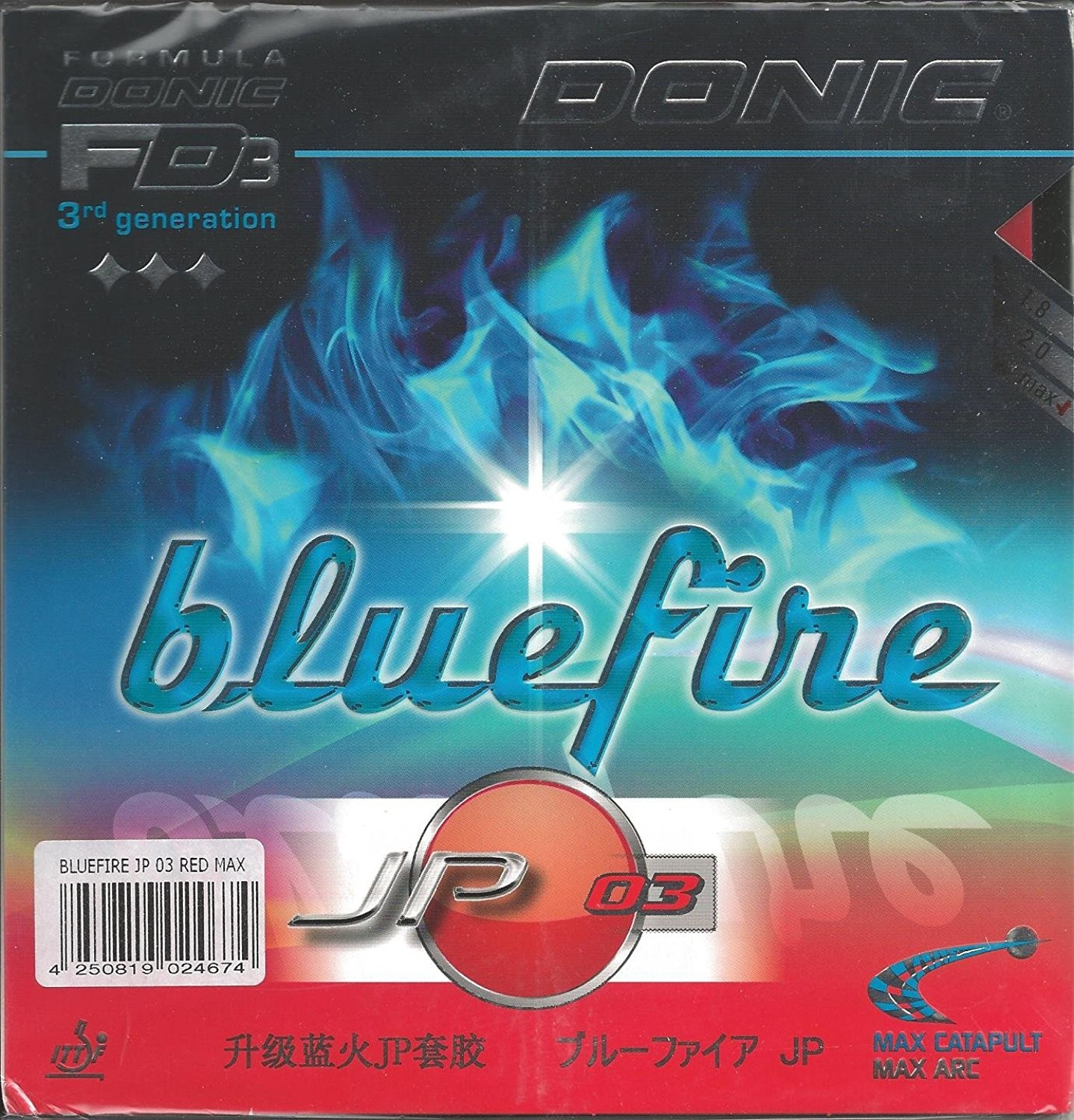 Donic Blue Fire JP 03 Table Tennis Rubber.