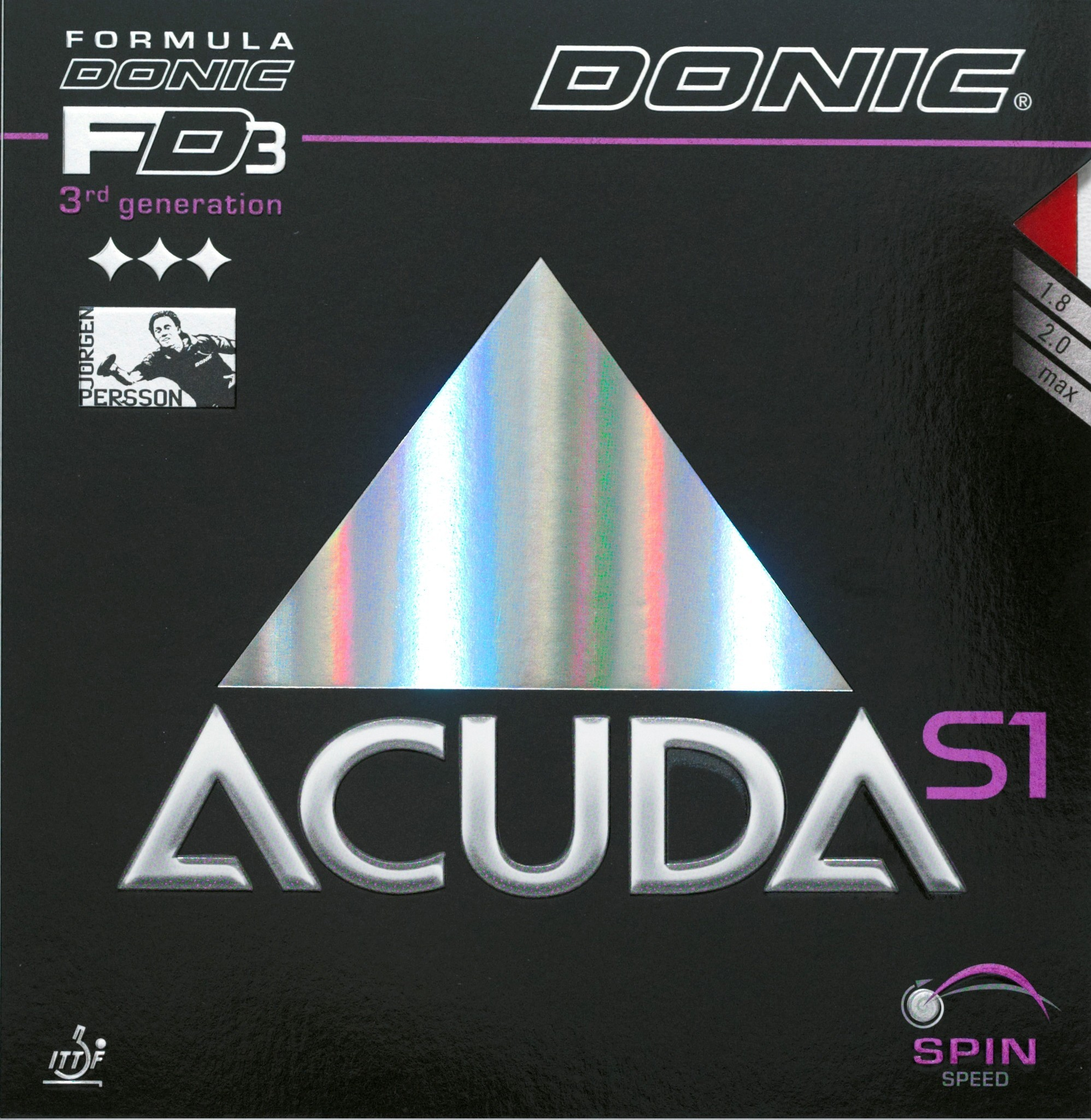Donic Accuda S1 Table Tennis Rubber.