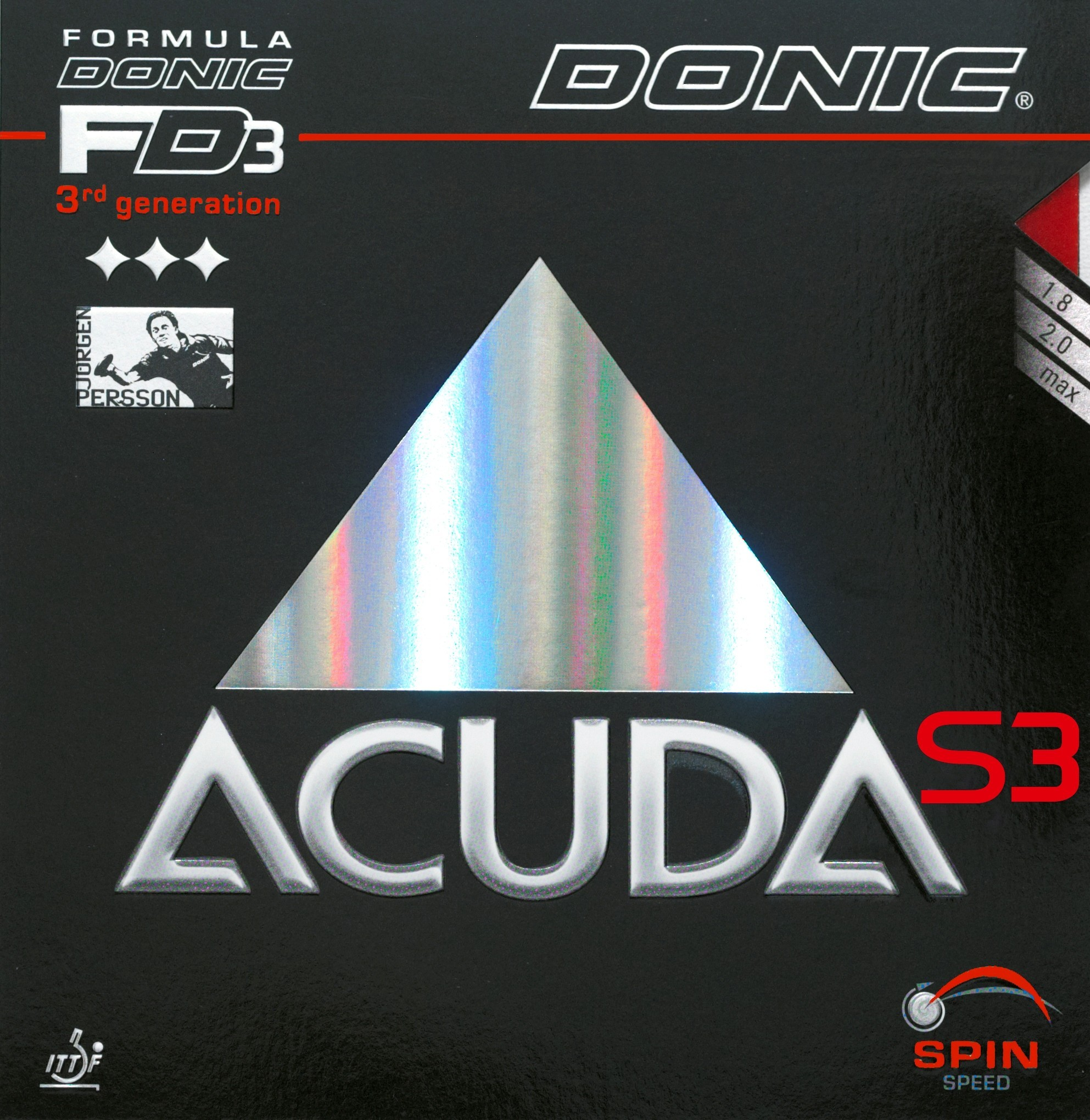 Donic Accuda S3 Table Tennis Rubber.