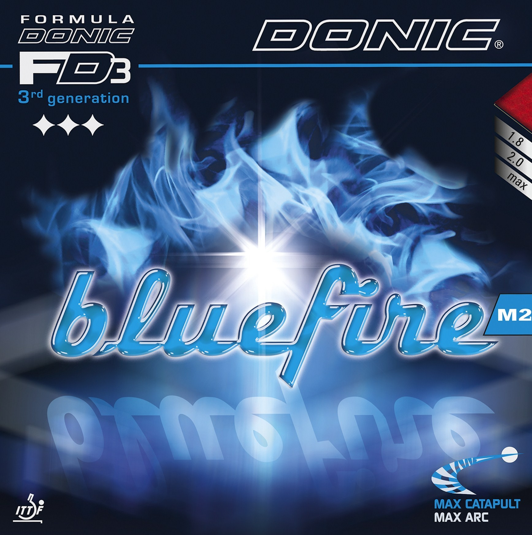 Donic Blue Fire M2 Table Tennis Rubber.