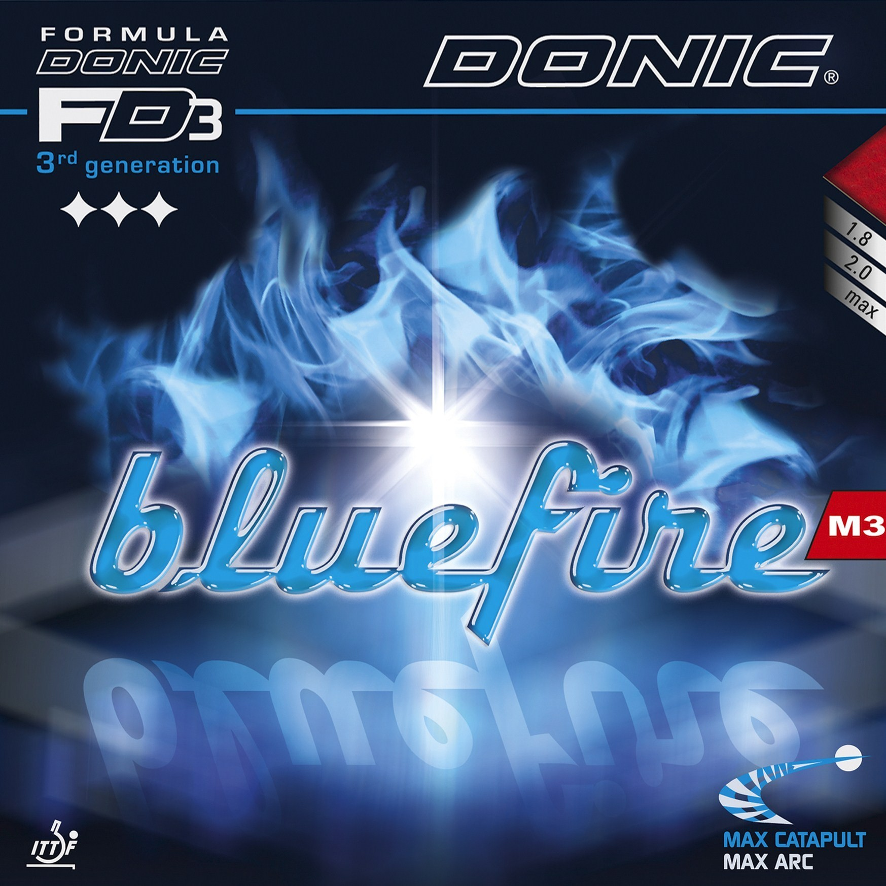 Donic Blue Fire M3 Table Tennis Rubber.
