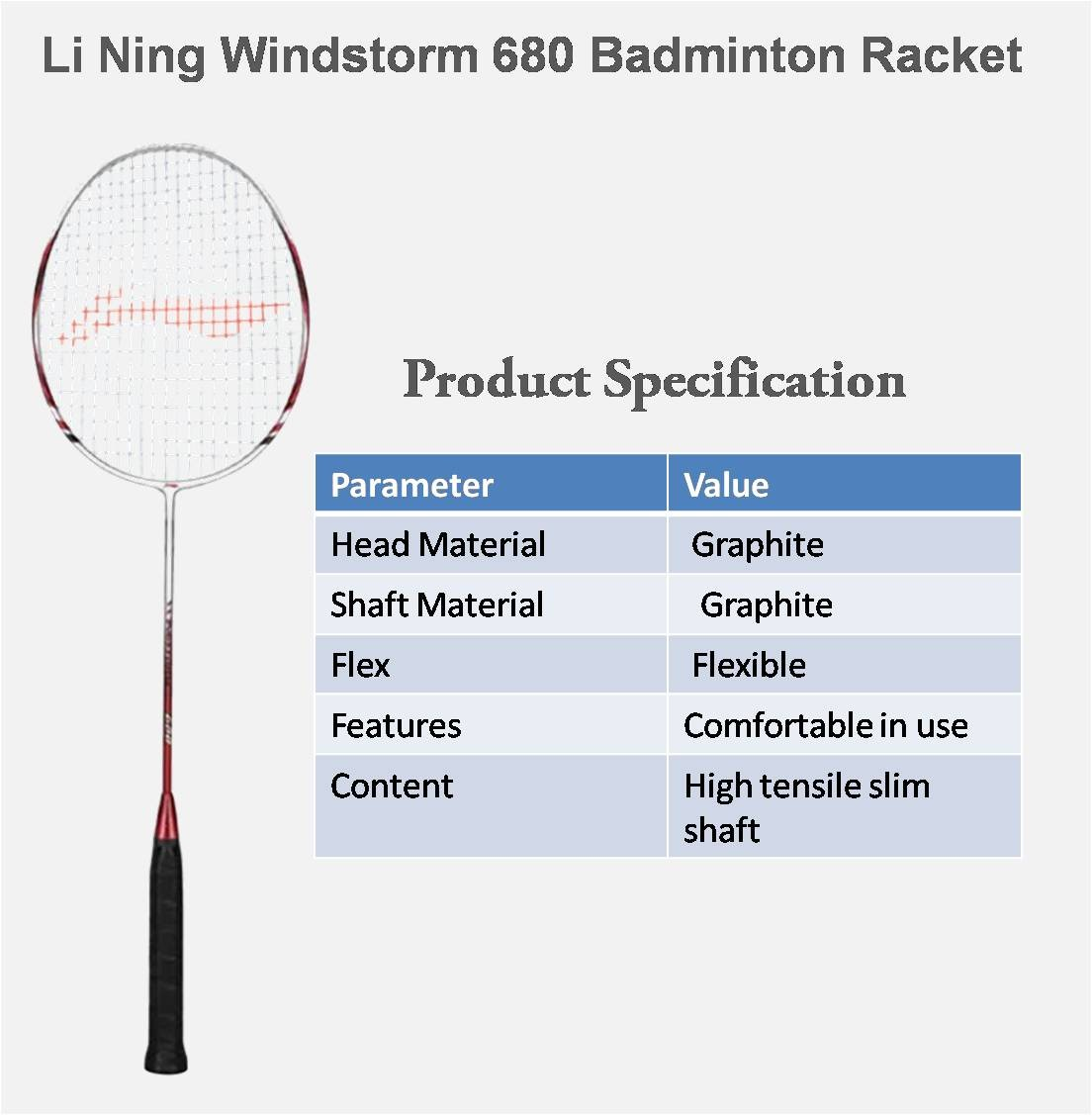 Li Ning WindStorm 680 Badminton Racket