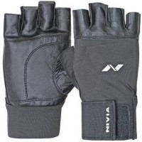 Nivia Leather Gym Gloves With Wrist Wrap-Large(890)