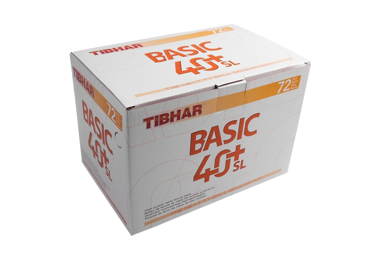 Tibhar 40+ Basic SL Pack of  72  Table Tennis Ball