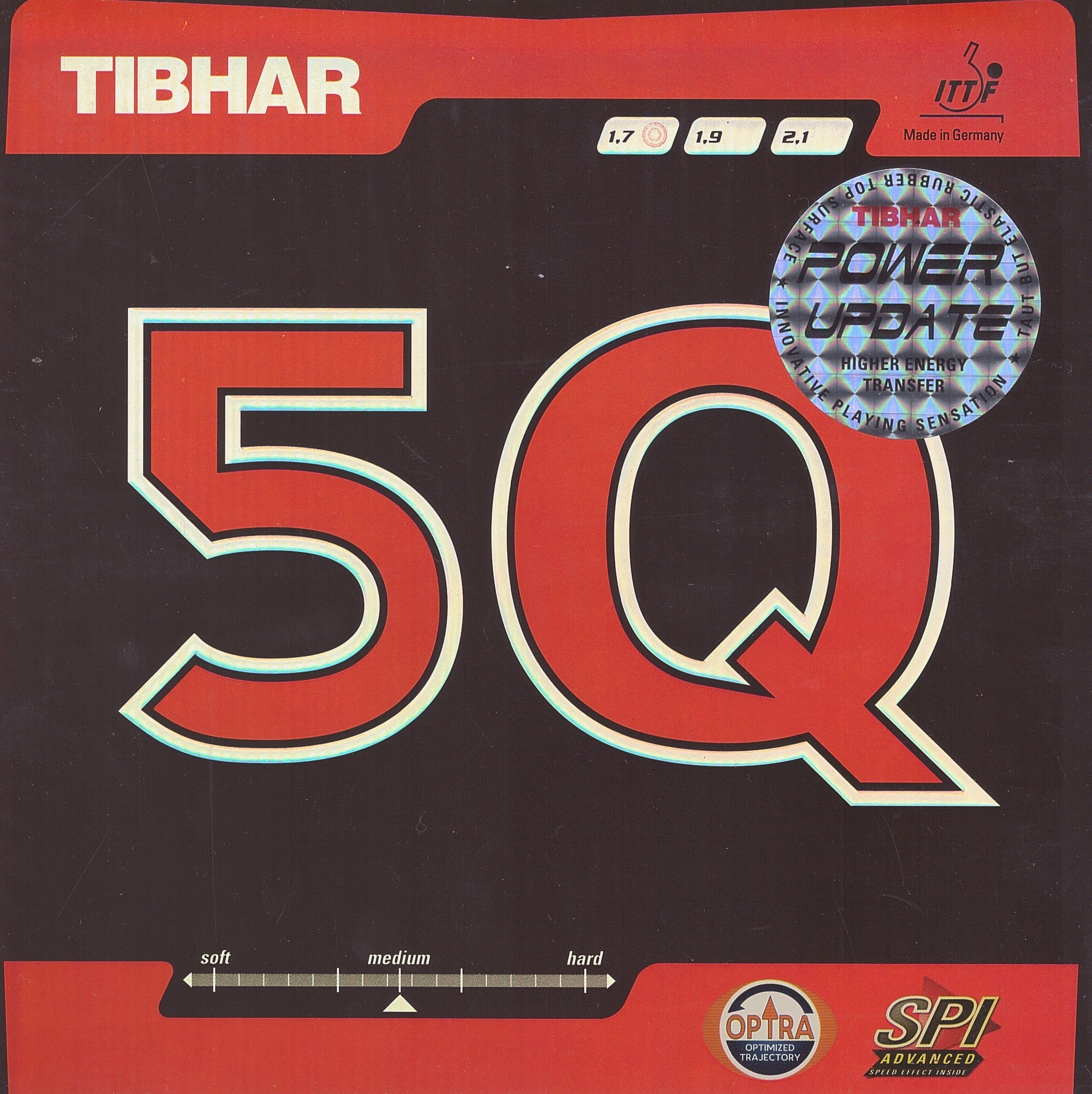 Tibhar 5Q Power Update Table Tennis Rubber