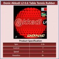 Donic Akkadi L2 0.6 Table Tennis  Rubber