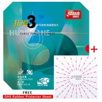 DHS Neo Hurricane 3 Table Tennis Rubber + Free DHS Rubber Protector