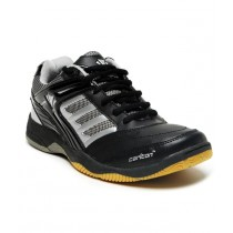 Carlton Prominent Black & Silver Badminton Shoes