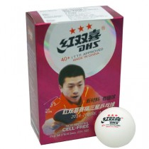 DHS 3 Star Cell Free Table Tennis Ball(Pack of 6)