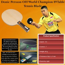 Donic Persson off World Champion 89 Table Tennis Blade