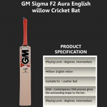 Gm Sigma F2 Aura English Willow Cricket Bat