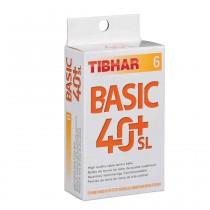Tibhar 40+Basic SL Pack of 6 Table Tennis Balls