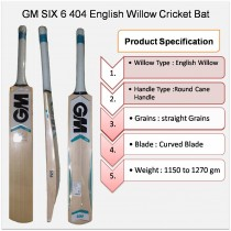 GM Six6 404 English Willow Cricket Bat