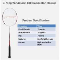 Li Ning WindStorm 680 Badminton Racket